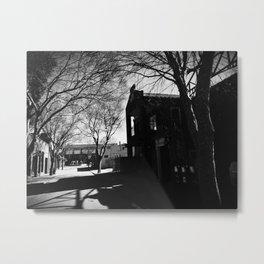 Shadowed Lane Metal Print