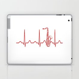 SAXOPHONE HEARTBEAT Laptop & iPad Skin