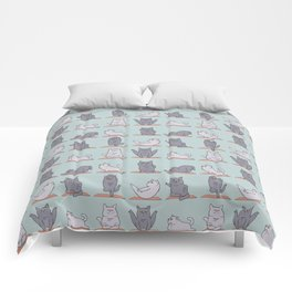 British Shorthair Cat  Yoga Comforters