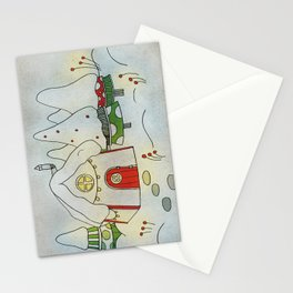 Winter cottage Stationery Cards