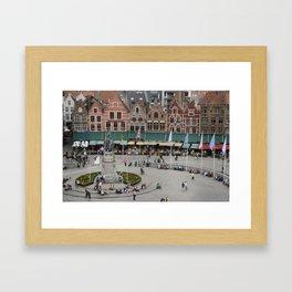 Bruges Main Square Framed Art Print