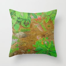 A Day of Forest (6). (close look) Throw Pillow