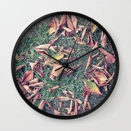 Autumn Leaves Before September Photography Nature Fall Colors Summer #GaneneKPhotography Wall Clock
