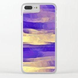 Purple Passion Sky Clear iPhone Case
