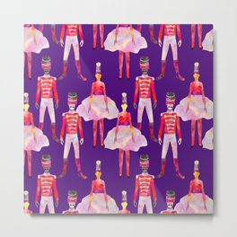 Nutcracker Ballet - Violet Purple Metal Print