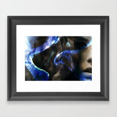 She Turns Framed Art Print