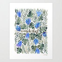 Tropical Wanderlust – Periwinkle Art Print