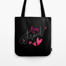 loves to travel Tote Bag