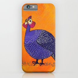 Gussie the Guinea Fowl iPhone Case