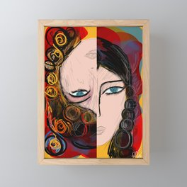 Bipolar portrait Framed Mini Art Print