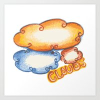 cloud Art Prints featuring Cloud by kartalpaf