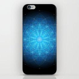 crystal mind. sacred geometry mandala iPhone Skin