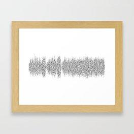 Cornflake Girl soundwave with lyrics - for light backgrounds Framed Art Print