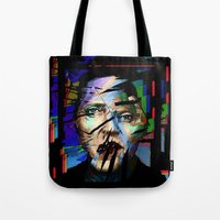 actor Tote Bags featuring Christopher Walken. Cracked Actor. by brett66