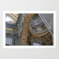 Ceilings of St. Peter's Basilica Art Print