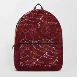 Red Damask Web Candelabra Backpack