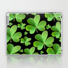 Clovers on Black Laptop & iPad Skin