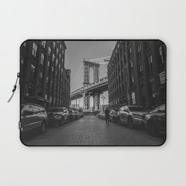 New York City Bridge (Black and White) Laptop Sleeve