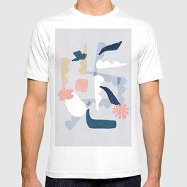 Bird, clouds and hope design T-shirt