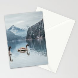 Couple of swans, Alpsee lake Stationery Cards