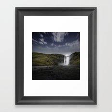 Skógafoss Waterfall Iceland Framed Art Print