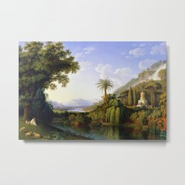 English Gardens of Caserta, Italy by Jakob Philipp Hackert Metal Print