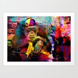UZI MØNKEY Art Print