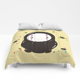 Spirited Away No Face Kawaii With Soot Sprites Comforters