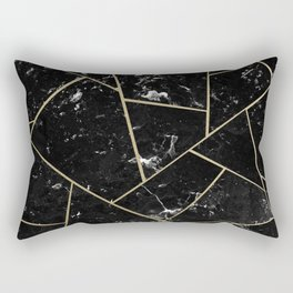 Black Marble Gold Geometric Glam #1 #geo #decor #art #society6 Rectangular Pillow