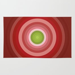Beetroot Pink Circles Rug