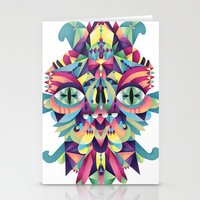 majoras mask Stationery Cards featuring Mask by Cobrinha