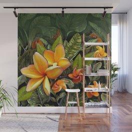 Hawaiian Plumeria at First Light Wall Mural