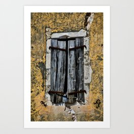 weathered window Art Print