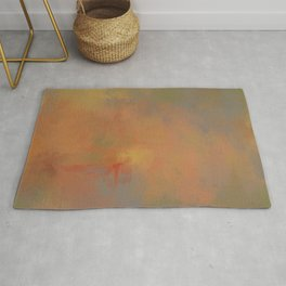 Invitation to Autumn Abstract Painting by Jai Johnson Rug