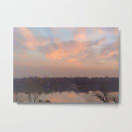 Evening Pink sky Metal Print