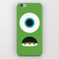 mike wrobel iPhone & iPod Skins featuring Mike Wazowski by Adrian Mentus