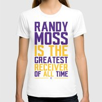 randy c T-shirts featuring Randy Moss by Couch Coaches