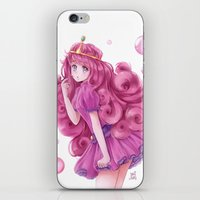 princess bubblegum iPhone & iPod Skins featuring Princess Bubblegum by NaiLyn