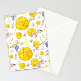 White Pentacles Stationery Cards