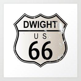 Dwight Route 66 Art Print