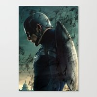 steve rogers Canvas Prints featuring Steve Rogers 006 by TheTreasure