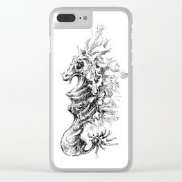 Vicentije Water Dragon Clear iPhone Case