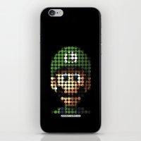 luigi iPhone & iPod Skins featuring Pictodotz - Luigi by dudsbessa