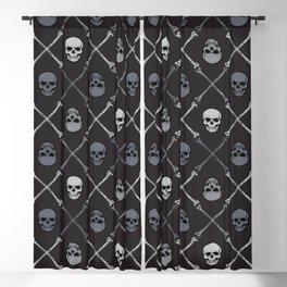Skull n Bones Blackout Curtain