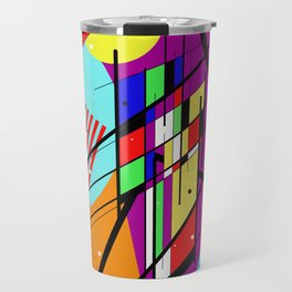 Crazy Retro 2 - Abstract, geometric, random collage Travel Mug