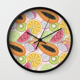 Fruits Set Pattern Wall Clock