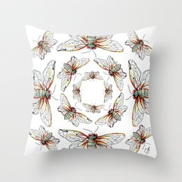 Cicada I Throw Pillow