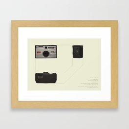 Vintage camera interior design poster - Kodak Instamatic Framed Art Print