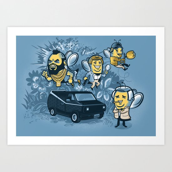 Bee Team 2 Art Print