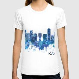Kawasaki Japan Skyline Blue T-shirt